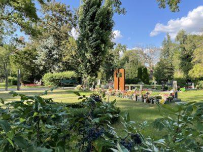 Blick auf die UGA des Friedhofs Olvenstedt
